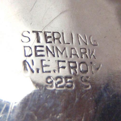 N.E.FROM (N.E.フロム) デンマーク ローズクォーツドットブローチ