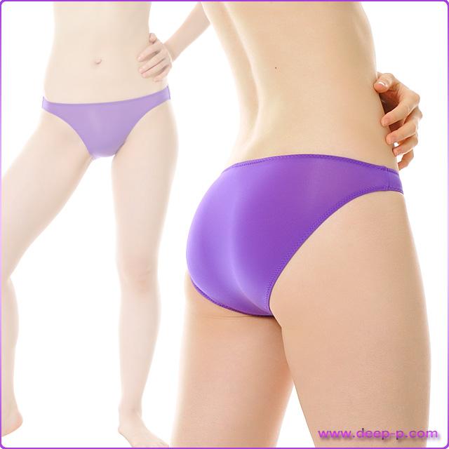 シンプルなビキニフルバックパンティ よーく伸び薄っすら透けちゃうストライクスキン 紫色   ターキー   ●