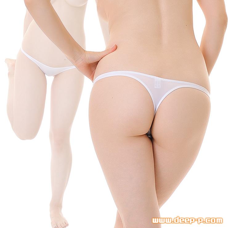 ローライズタイトミニTバックパンティ お肌にピッチリフィットします マイクロファイバー地 白色 | ラポーム | ●