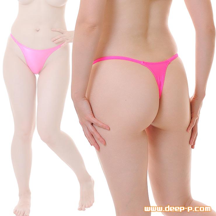 腰回りシャープ ハイレグTバックパンティ 濡れた様な感じのスーパーウェット地 ホットピンク色 | ターキー | ●