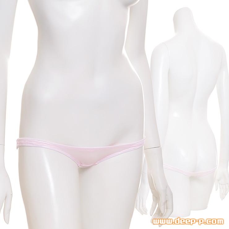 ロリパンではこれ以上無理! 極小極浅Tバックパンティー 艶やかなフェリカ地 ピンク色 | ラポーム | ●
