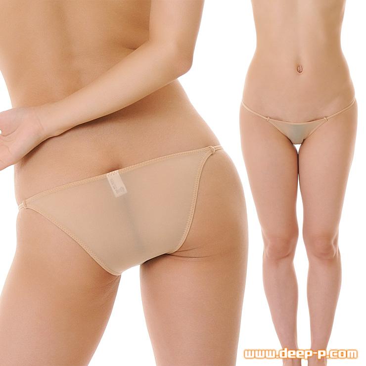 アンダーショーツ風 ミニハーフバックパンティ 薄くよーく伸び透け具合がエロい KBS ヌード色 | ラポーム | ●