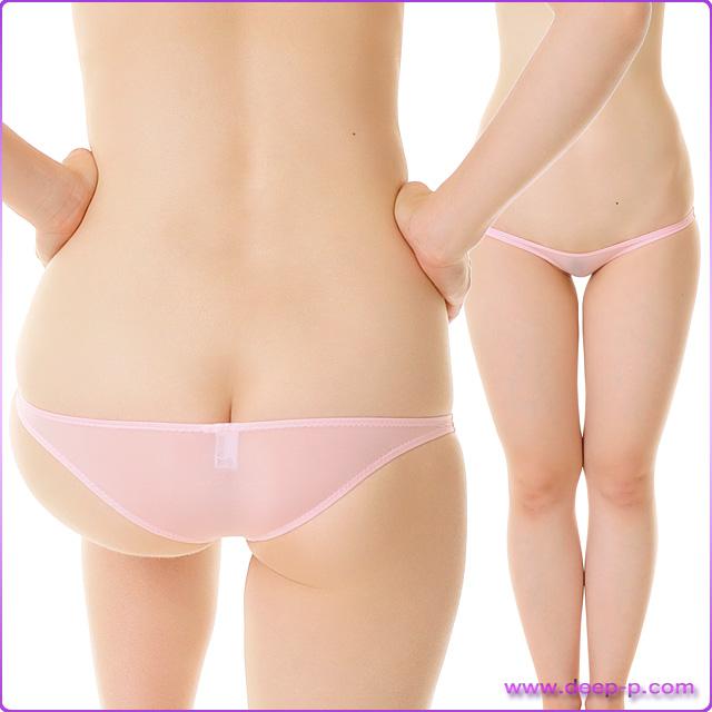 メッチャ浅いハーフバックパンティ 薄っすらお肌透け具合がイイ スーパーストレッチ地 ピンク色 | ラポーム | ●