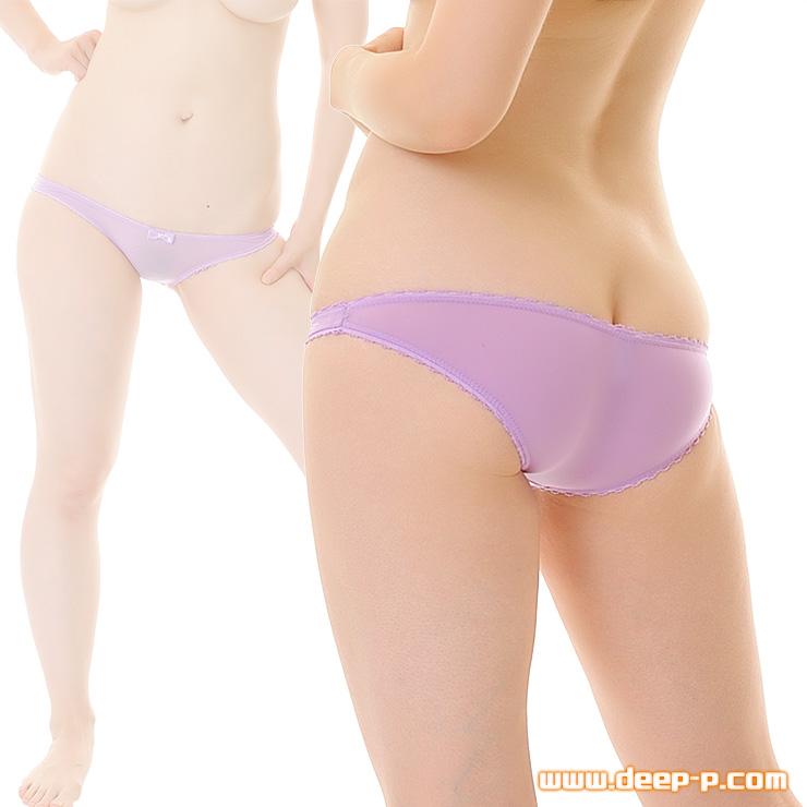 縁がピコゴムで可愛く浅いハーフバックパンティ 柔らかくしなやかで微妙に透けます SMF 薄紫色 | ターキー | ●