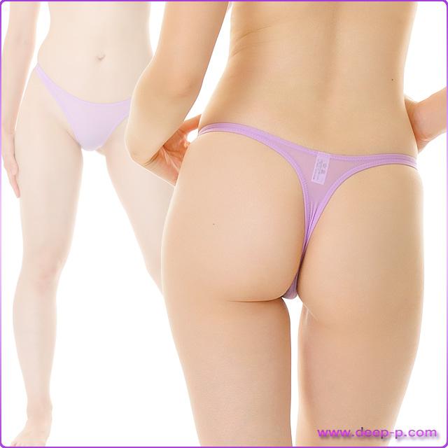 シンプルなハイレグTバックパンティ 柔らかくしなやかで微妙に透けます SMF 薄紫色 | ターキー | ●