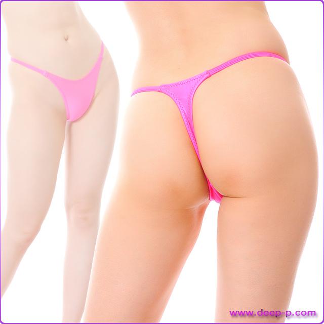腰回りがシャープ ハイレグTバックパンティ 濡れた様な感じのスーパーウェット地 ホットピンク色 | ターキー | ●