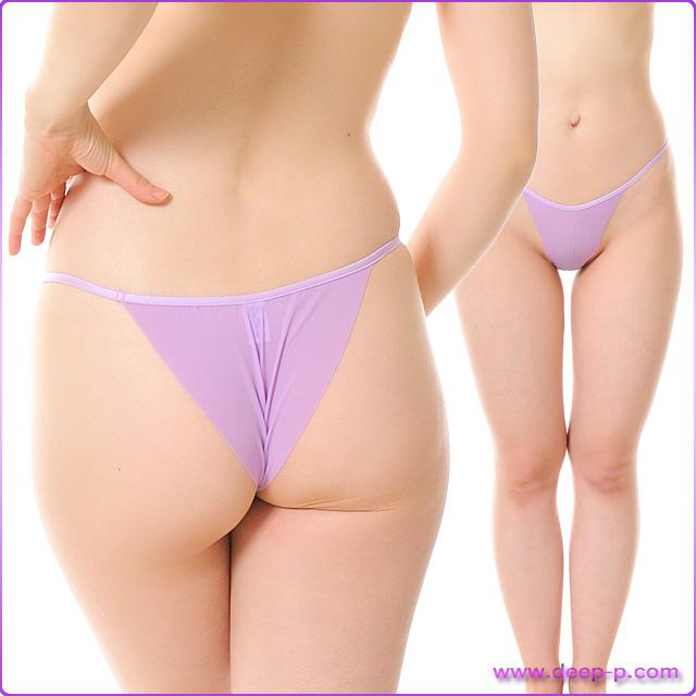 布1枚感覚でくい込むハーフバックパンティ 柔らかくしなやかで微妙に透けます SMF 薄紫色 | ターキー | ●