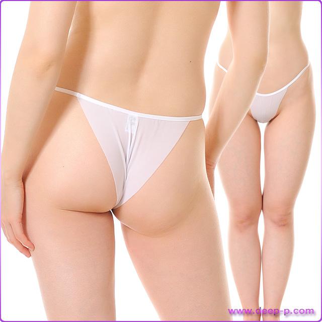 布1枚感覚でくい込むハーフバックパンティ 柔らかくしなやかで微妙に透けます SMF 白色 | ターキー | ●