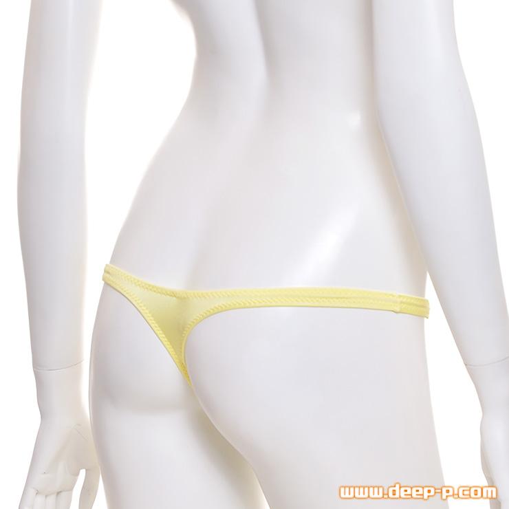 シンプルで結構浅ーいTバックパンティー 柔らかく良く伸び消臭抗菌作用アリなの 黄色   ターキー   ●