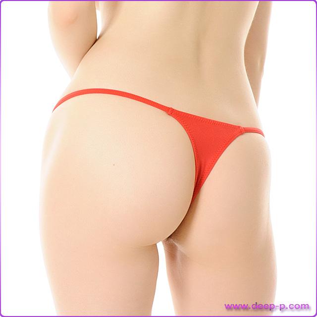 ミニTバックパンティ 腰回りスッキリ見えるサイドライン マイクロファイバー地 赤色   ラポーム   ●