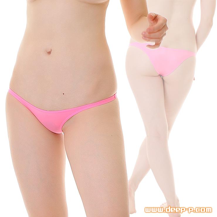 ローライズタイトミニハーフバックパンティ お肌にピッチリフィットします マイクロファイバー地 ピンク色 | ラポーム | ●