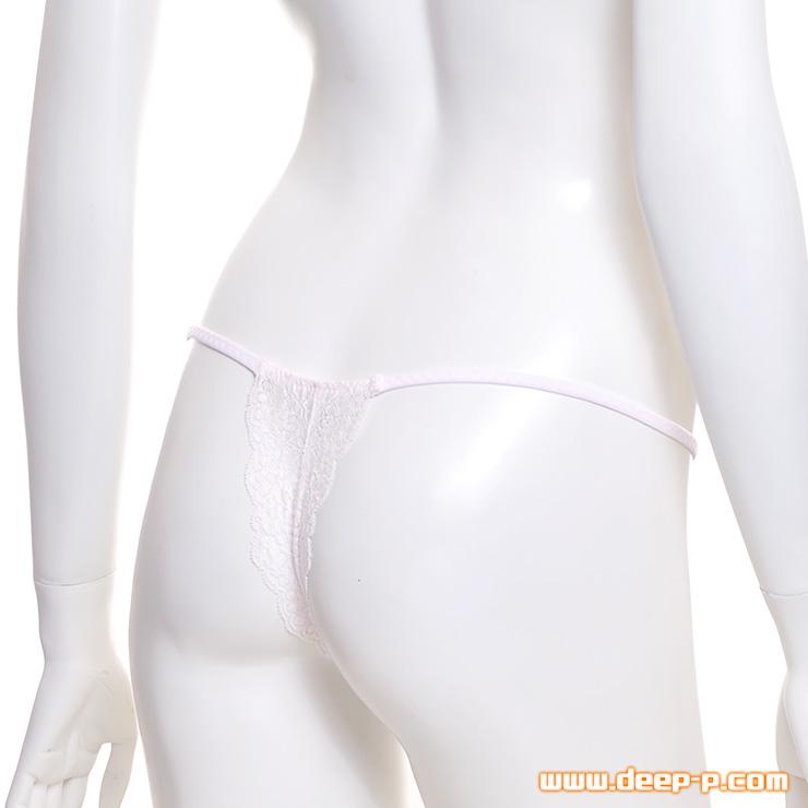 大人っぽいセクシーTバックパンティー 縦に縫い目があるからくい込み感UP T2M2&レース 薄いピンク色 | ターキー | ●
