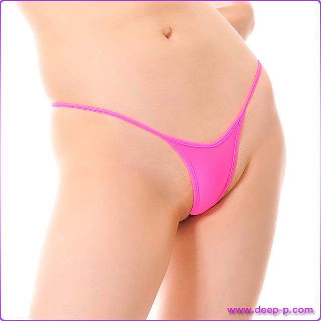 アンダーショーツ風 ミニハイレグTバックパンティ 濡れた様な感じのスーパーウェット地 ホットピンク色 | ターキー | ●
