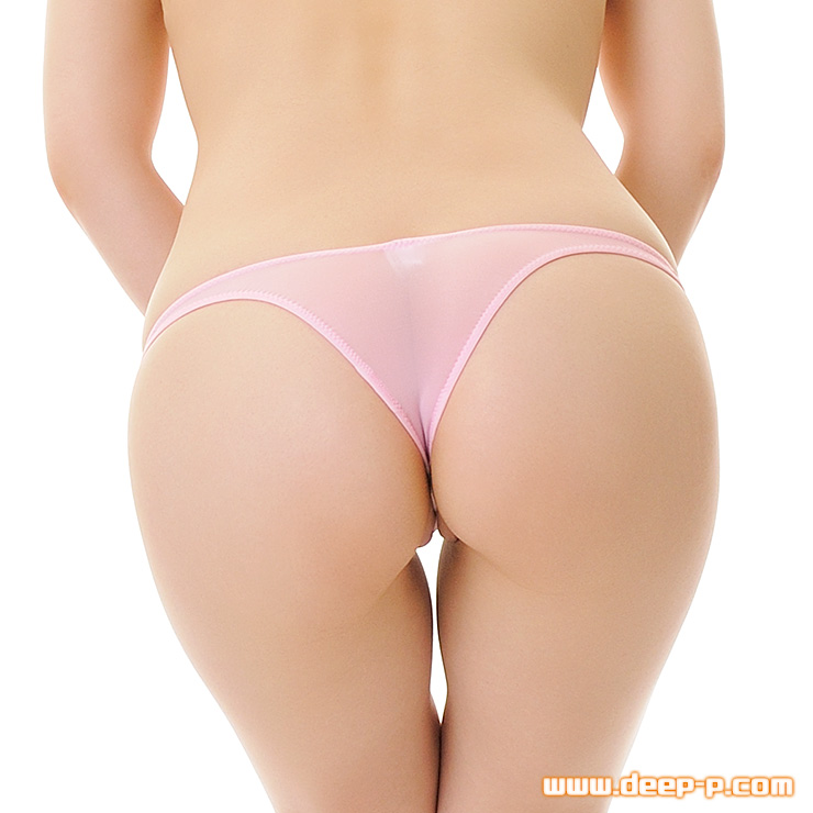お肌隠れる面積細く狭い ローライズTフロントリオバックパンティ スーパーストレッチ地 ピンク色 | ラポーム | ●