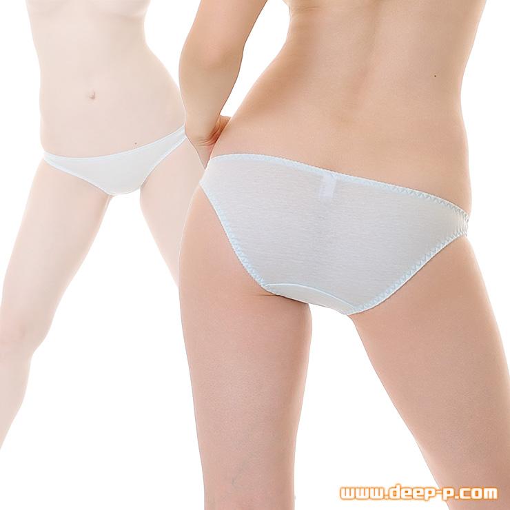 セクシー度はほぼゼロ シンプルで普通な感じのフルバックパンティ お肌に優しいコットン地 水色 | ラポーム | ●