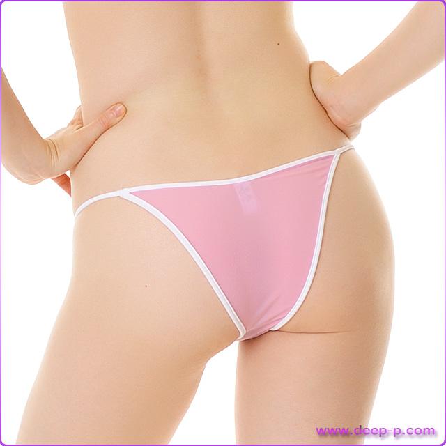 周り白く縁取りされ可愛いハーフバックパンティ 柔らかくしなやかで微妙に透けます SMF ピンク色   ターキー   ●
