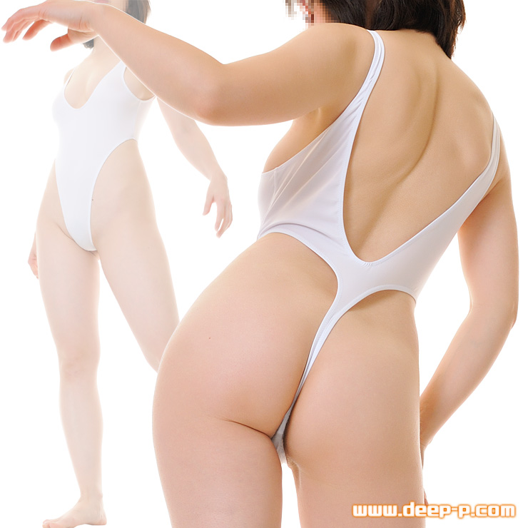 ハイレグTバックプレイスーツ お肌の露出度高いです よーく伸びてお肌にフィット 白色   ラポーム   ▲