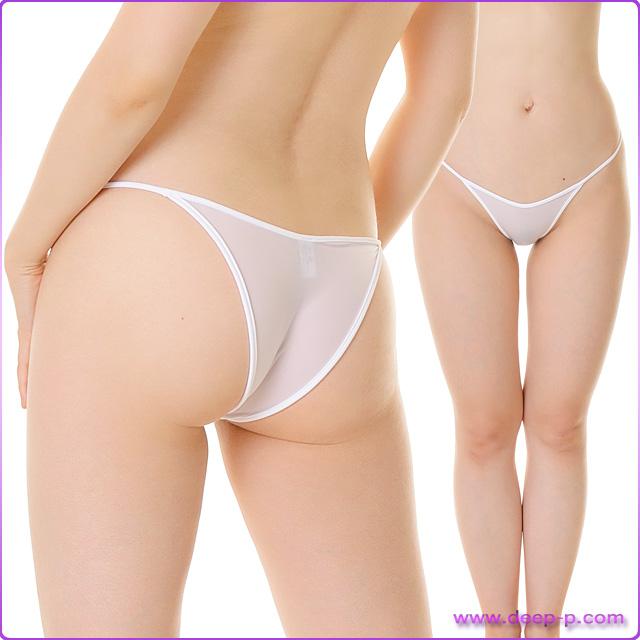 周り白く縁取りされ可愛いハーフバックパンティ 柔らかくしなやかで微妙に透けます SMF 白色 | ターキー | ●