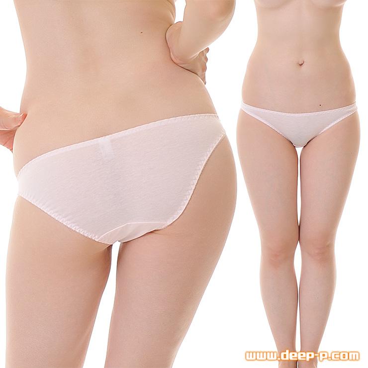 セクシー度はほぼゼロ シンプルで普通な感じのフルバックパンティ お肌に優しいコットン地 ピンク色 | ラポーム | ●