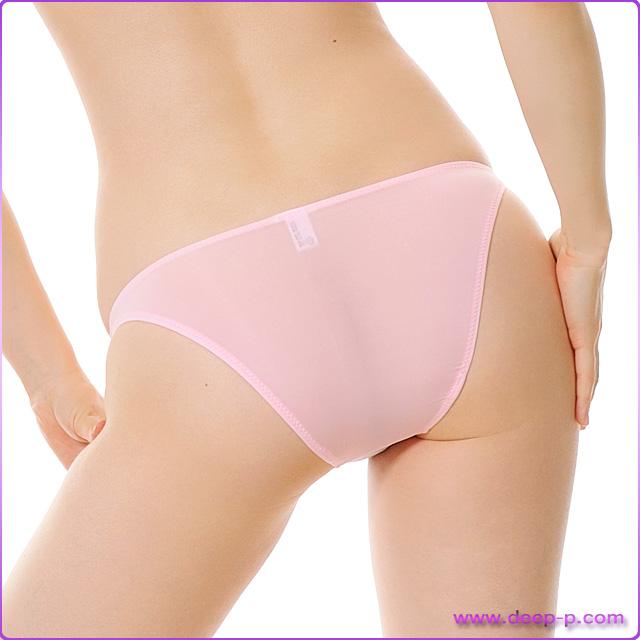 ハイレグハーフバックパンティ 薄っすらお肌透け具合がイイ スーパーストレッチ地 ピンク色 | ラポーム | ●