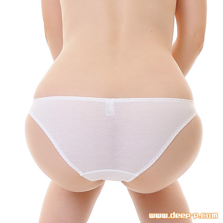 セクシー度はほぼゼロ シンプルで普通な感じのフルバックパンティ お肌に優しいコットン地 白色 | ラポーム | ●