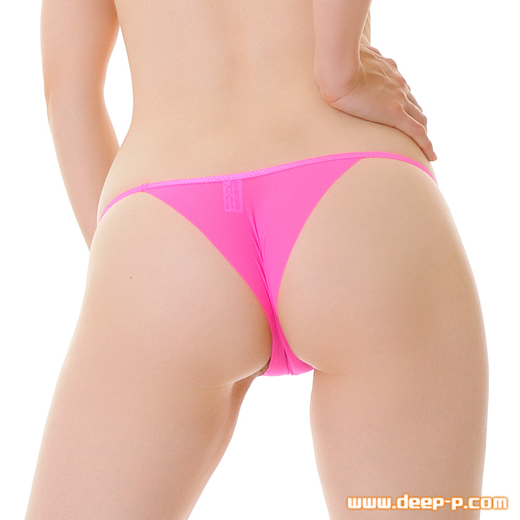 布1枚感覚で心許無いミニリオバックパンティ くい込みかヅレちゃう率高っ ホットピンク色 | ターキー | ●