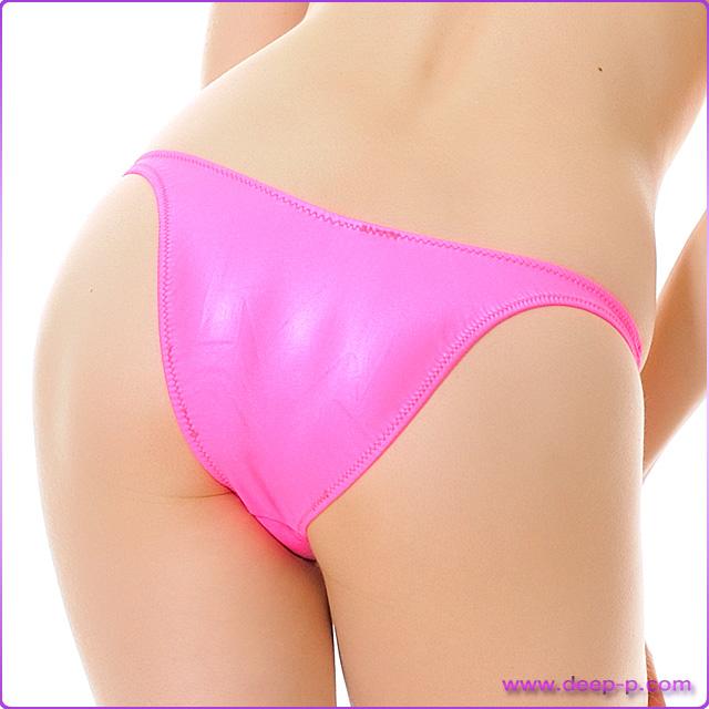 イイ感じに隠れます ミニハーフバックパンティ 濡れた様な感じのスーパーウェット地 ホットピンク色 | ターキー | ●