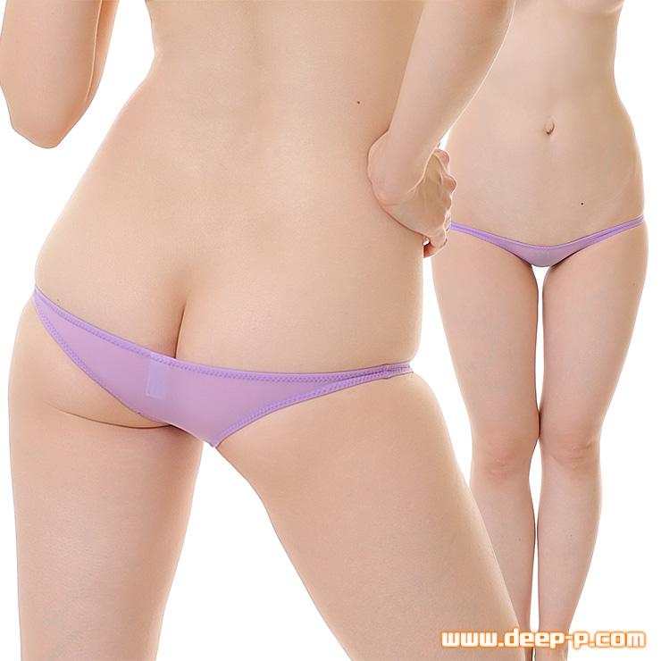 ギリギリ!メッチャ浅ーい! 半尻ハーフバックパンティ 柔らかくしなやかで微透け SMF 薄紫色 | ターキー | ●