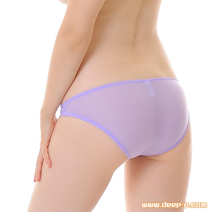 縁がピコゴムで可愛く普通っぽいフルバックパンティ モチモチした感触が優しいT2M2地 薄紫色 | ターキー | ●