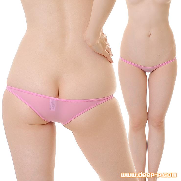 ギリギリ!メッチャ浅ーい! 半尻ハーフバックパンティ 柔らかくしなやかで微透け SMF ピンク色 | ターキー | ●