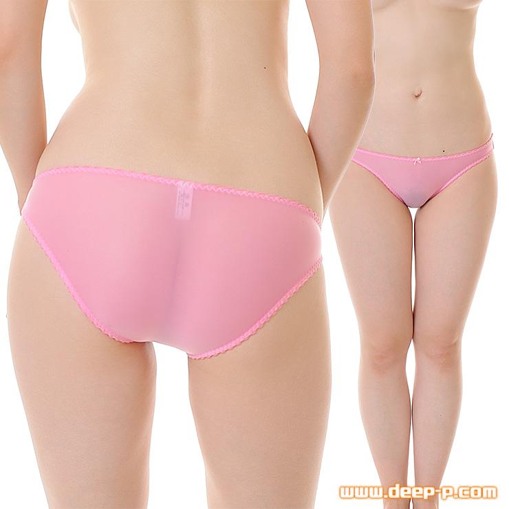 縁がピコゴムで可愛く普通っぽいフルバックパンティ モチモチした感触が優しいT2M2地 ピンク色 | ターキー | ●