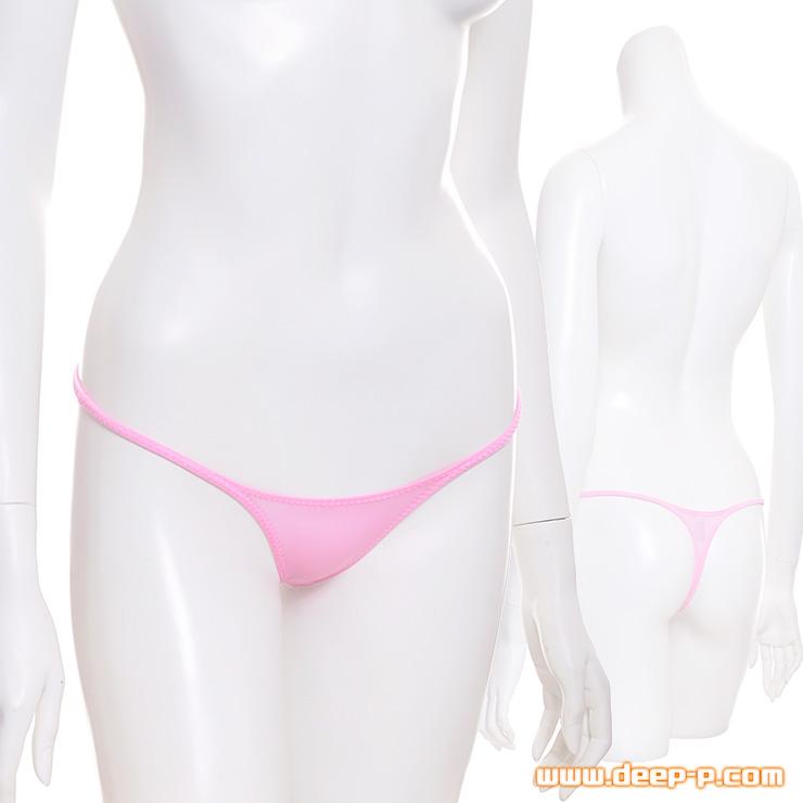 ライン的に良い感じに隠れます シャープなミニTバックパンティー 柔らかくスベスベ生地 ピンク色   ターキー   ●