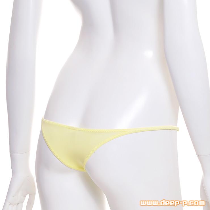 ライン的に良い感じに隠れます シャープなミニリオバックパンティー 柔らかくスベスベ生地 黄色   ターキー   ●