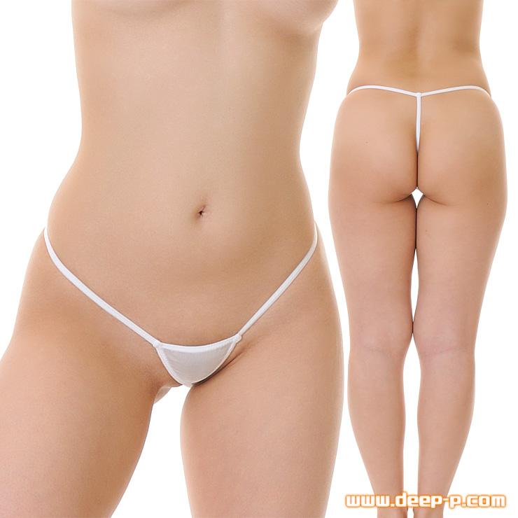 極小Gストリングパンティ マン土手だけギリギリ 薄くよーく伸び透け具合がエロい KBS 白色 | ラポーム | ●