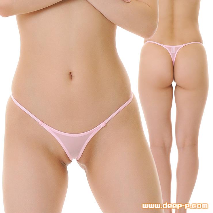 TフロントTバックパンティ お肌隠れる面積細ーい スーパーストレッチ地 ピンク色 | ラポーム | ●