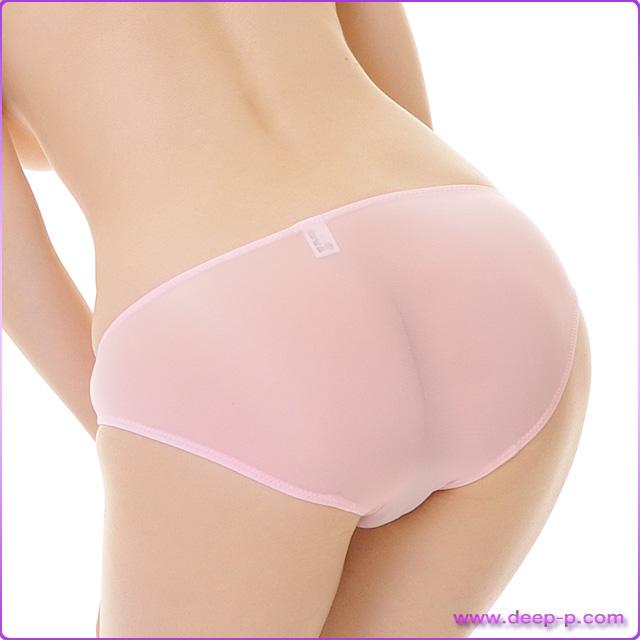 プレーンなビキニフルバックパンティ 薄っすらお肌透け具合がイイ スーパーストレッチ地 ピンク色 | ラポーム | ●