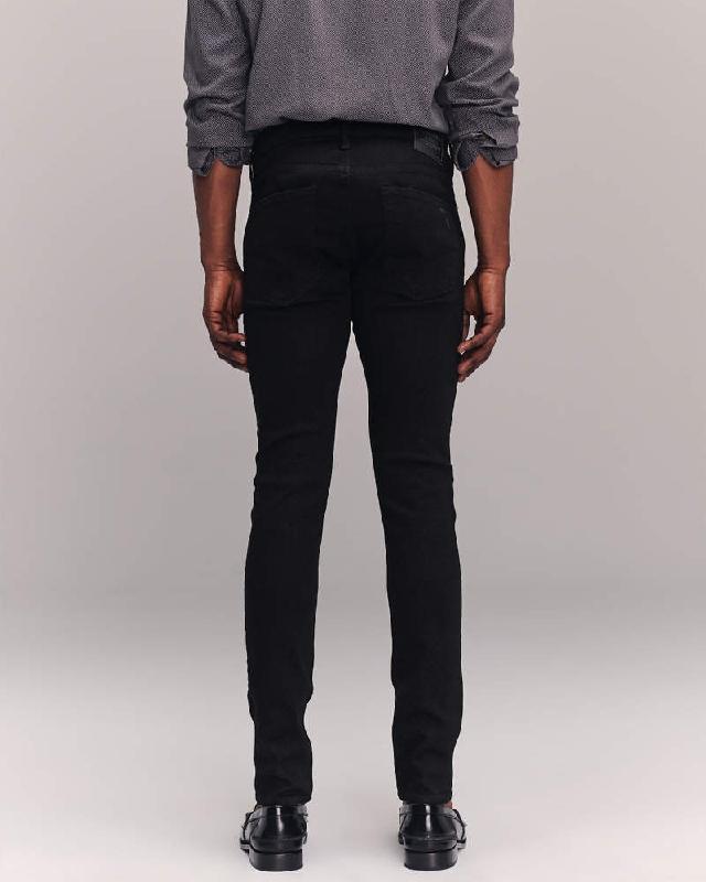 大きいサイズ メンズ アバクロンビー&フィッチ Abercrombie&Fitch スキニー ジーンズ デニムパンツ ジーパン ストレッチ ダメージ No-Fade Ripped Super Skinny Jeans W38インチ