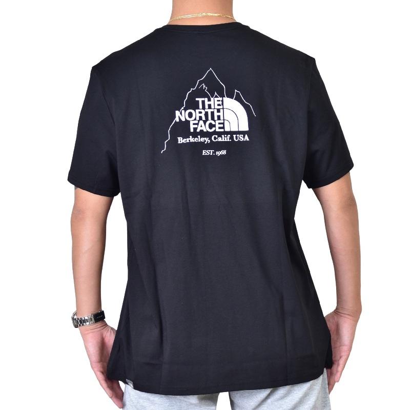 大きいサイズ メンズ ノースフェイス 半袖 ロゴプリント Tシャツ Biner Graphic 4 EUライン 海外モデル 黒 グリーン XL XXL 【メール便対応】 [M便 1/1]