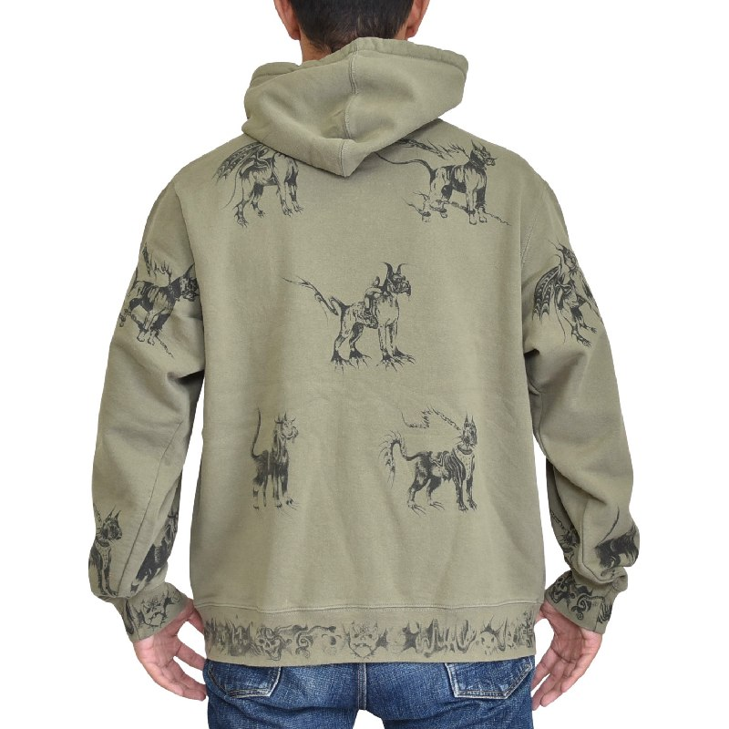 大きいサイズ メンズ Supreme シュプリーム プルオーバー パーカー Animals Hooded Sweatshirt XL