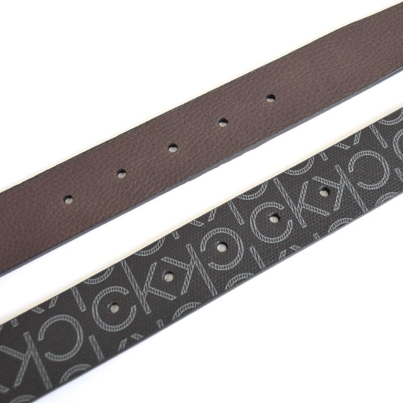 大きいサイズ メンズ CK カルバンクライン Calvin Klein リバーシブル モノグラム柄 本皮 黒 ブラック 茶色 ブラウン 38 40 42インチ