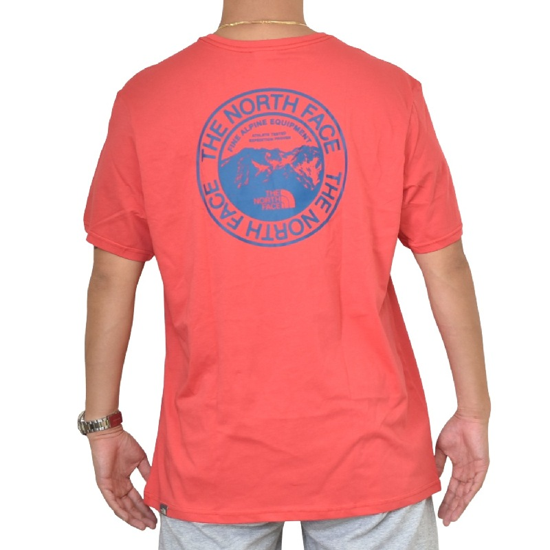 大きいサイズ メンズ ノースフェイス 半袖 ロゴプリント Tシャツ THE NORTH FACE Biner Graphic 3 EUライン 海外モデル レッド 赤 XL XXL 【メール便対応】 [M便 1/1]
