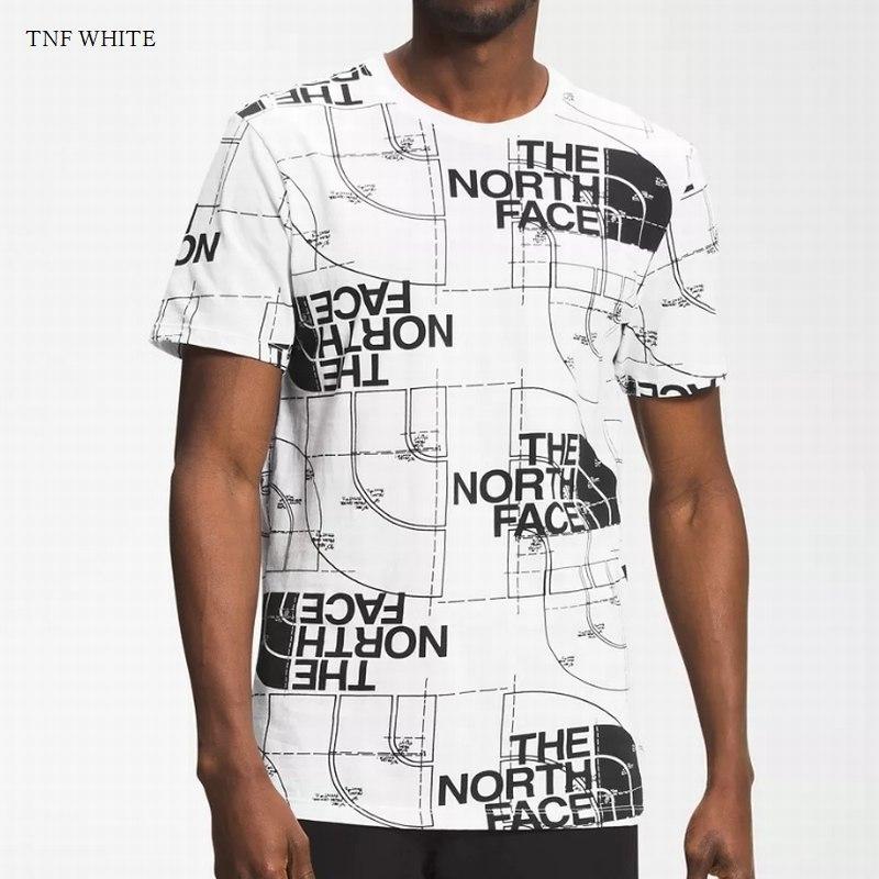 大きいサイズ メンズ ノースフェイス 半袖 グラフィック Tシャツ 総柄 AOP Short Sleeve Tee USAモデル THE NORTH FACE XL XXL 【メール便対応】 [M便 1/1]