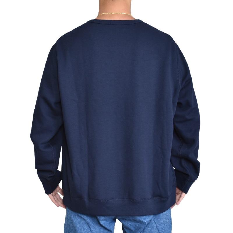 大きいサイズ メンズ ポロラルフローレン POLO RALPH LAUREN クルーネック スウェットシャツ トレーナー ネイビー 紺色 XL XXL