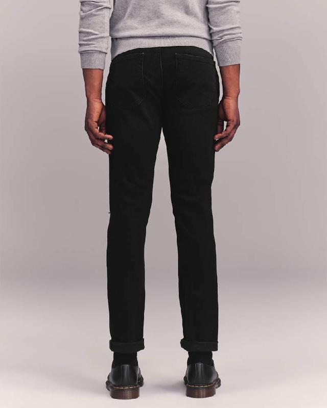 大きいサイズ メンズ アバクロンビー&フィッチ Abercrombie&Fitch スキニー ジーンズ デニムパンツ ジーパン ストレッチ ダメージ Ripped Skinny Jeans W38インチ