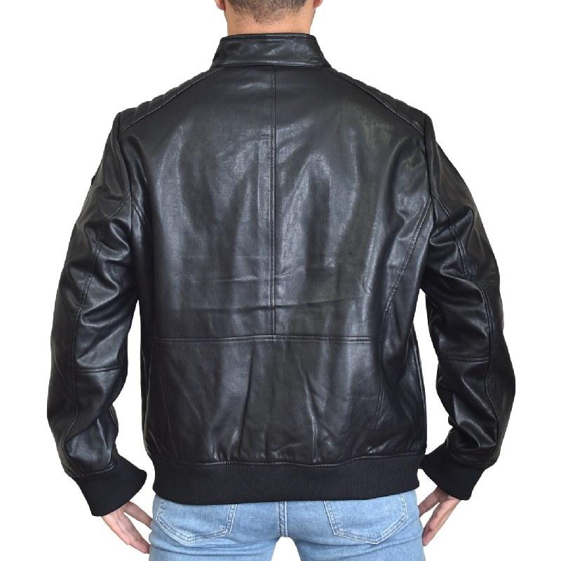 大きいサイズ メンズ DKNY ダナキャランニューヨーク フェイクレザージャケット ライダース アウター ブルゾン 黒 ブラック XL XXL