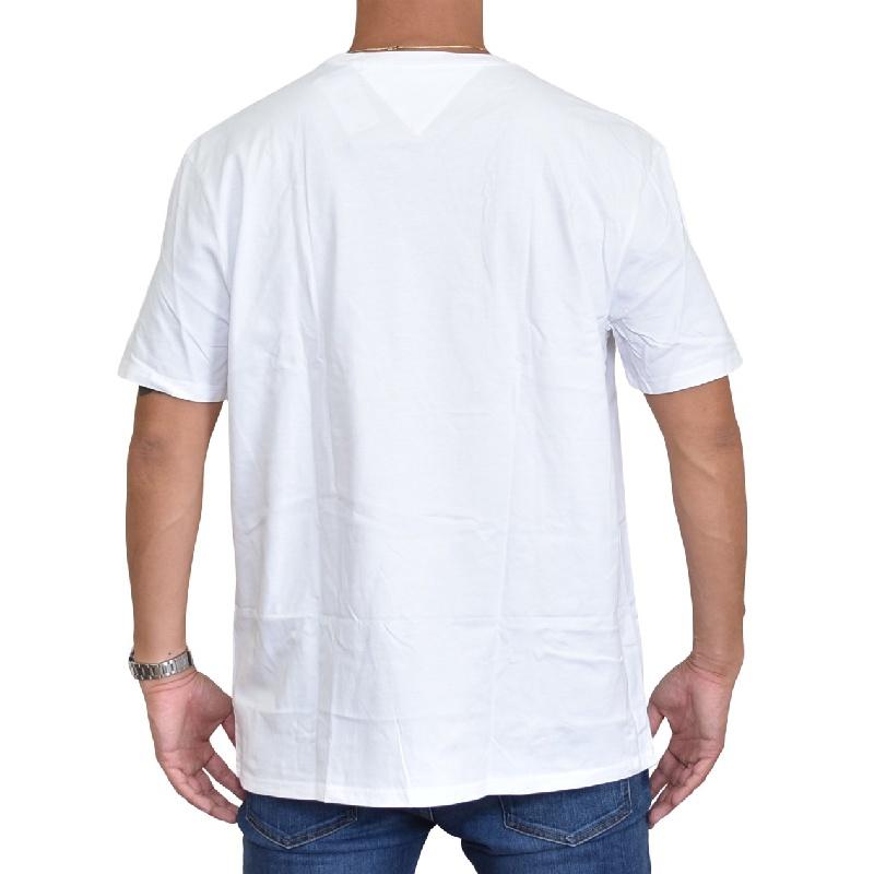大きいサイズメンズ TOMMY HILFIGER トミーヒルフィガー 半袖Tシャツ クルーネック ロゴプリント 白 ホワイト XL XXL 【メール便対応】 [M便 1/1]