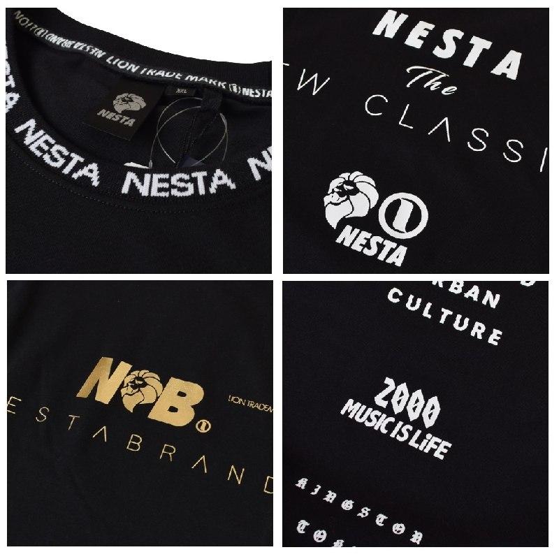 大きいサイズ メンズ ネスタブランド NESTA BRAND DRY リブ ジャカード ゴールド 箔 Tシャツ XXL XXXL 【メール便対応】 [M便 1/1]