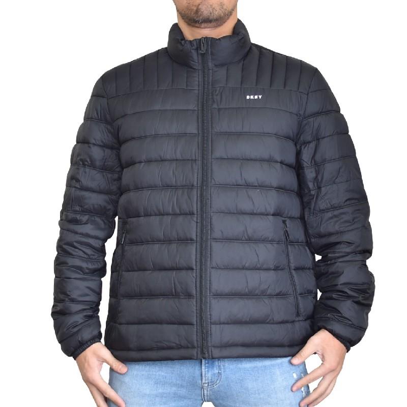 大きいサイズ メンズ DKNY ダナキャランニューヨーク 中綿ジャケット パッカブル ダウン アウター ブルゾン 黒 ブラック XL XXL