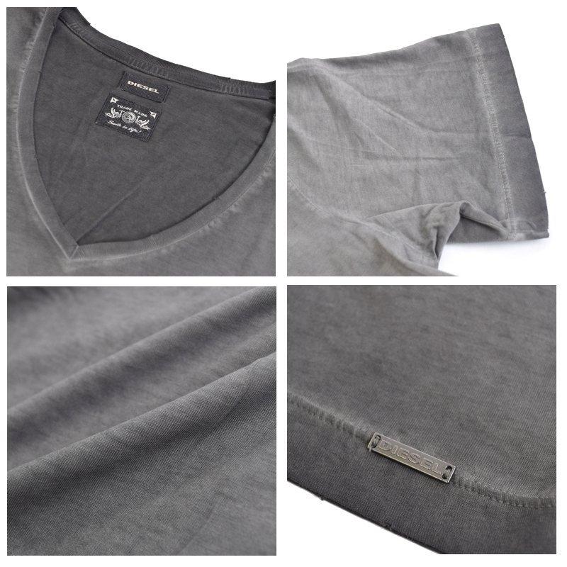 【SALE】 大きいサイズ メンズ ディーゼル Diesel Vネック Tシャツ 無地 T-HIDEA XXL XXXL 【メール便対応】 [M便 1/1]