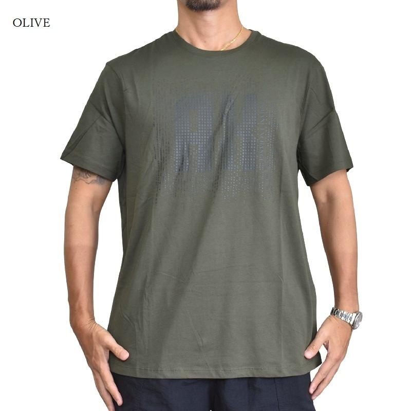 大きいサイズ メンズ アルマーニエクスチェンジ A/X ARMANI EXCHANGE クルーネック 半袖Tシャツ REGULAR FIT 黒 ブラック オリーブ XL XXL 【メール便対応】 [M便 1/1]